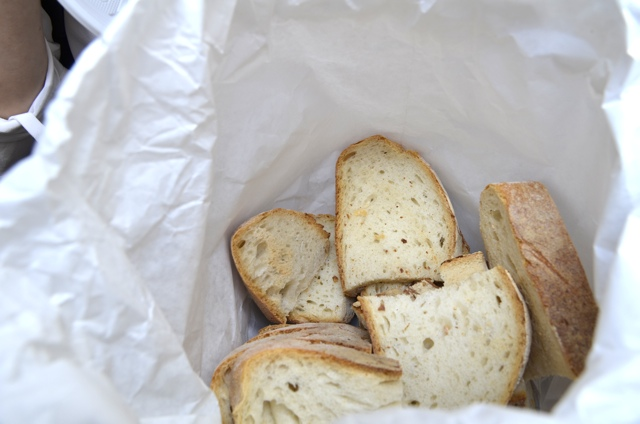 A bag of bread in Rome - Rome Food Tour with Walks of Italy