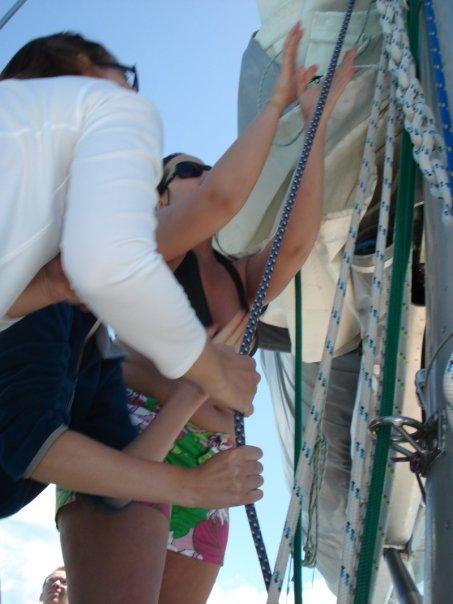 cailin hoisting sails