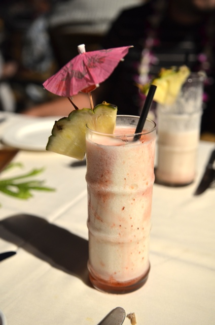 Lava flow drink at the Fest at Lele in Maui