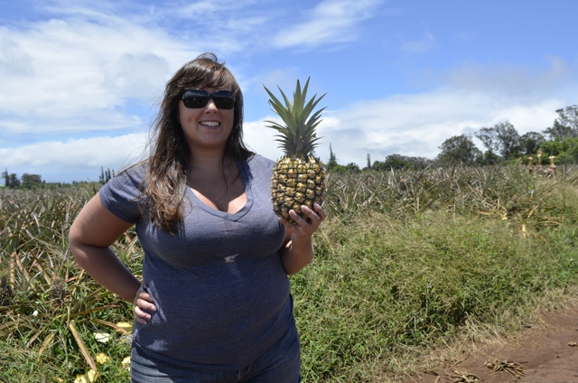 The freshest pineapple EVER at the Maui Gold Pineapple farm tour