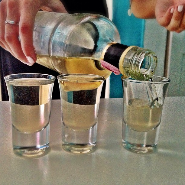 Welcome shots at the Fresh Sheets hostel in Dubrovnik