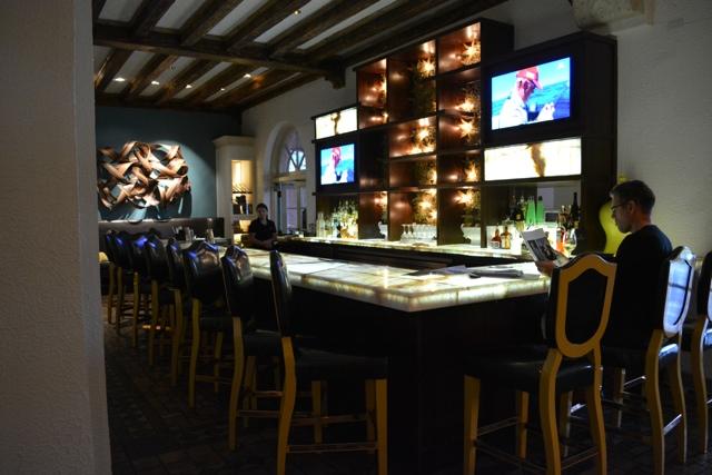 The lobby bar the the Renaissance Vinoy