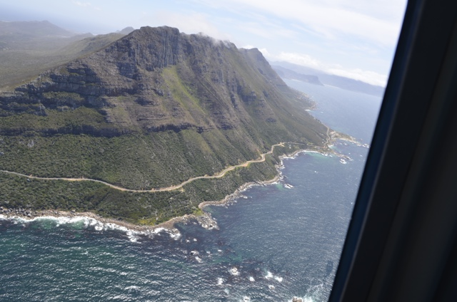 A helicopter view of Cape Town, South Africa