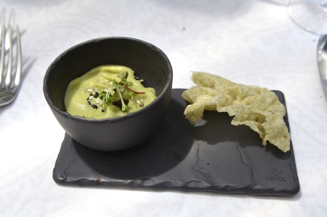 An amuse bouche at La Colombe in Cape Town, South Africa