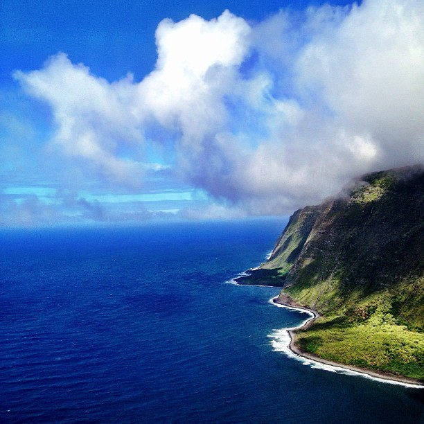 Maui Helicopter Tour - the Sea Cliffs of Moloka'i