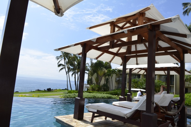 Wailea Marriott poolside Cabana