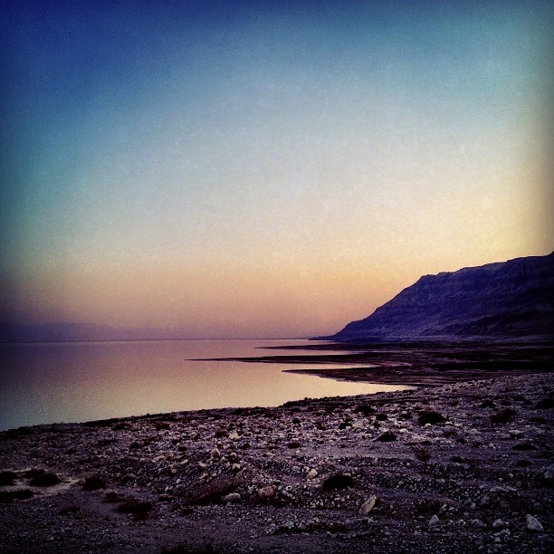 Sunset over the Dead Sea in Israel