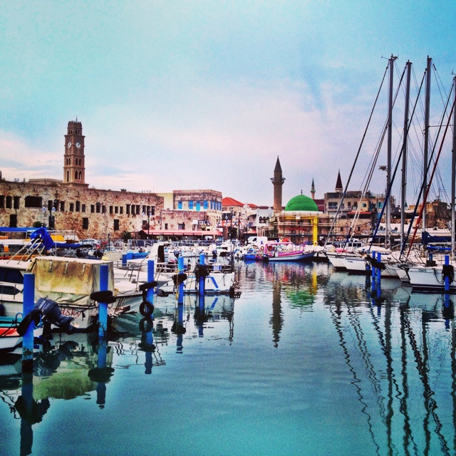 The ancient port of Akko (Acre) Israel