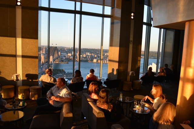 View from blue bar 36 at the Shangri-La in Sydney