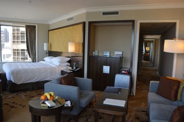 corner room at the Shangri-La Sydney Hotel