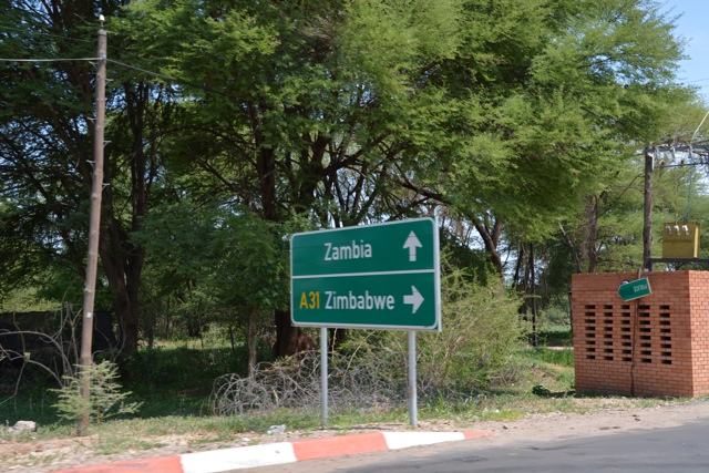 Zambia and Zimbabwe border