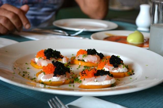 Uri Jeremias Buri fresh shrimp persimmon