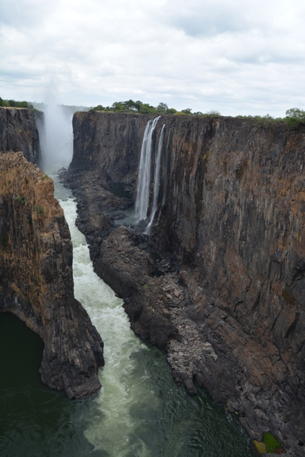 Victoria Falls dried up