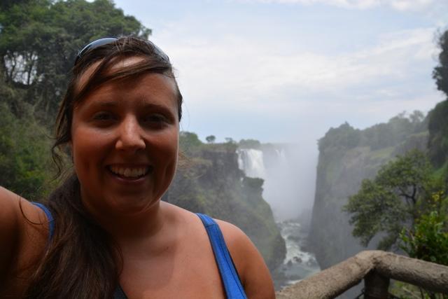 Cailin at Victoria Falls
