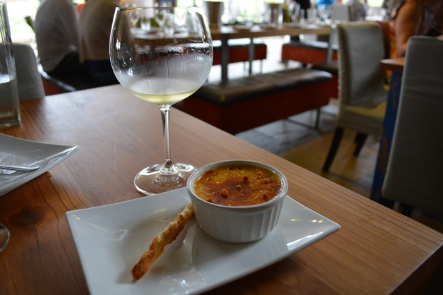 creme brulee and chardonnay - tasting creation wines in south africa