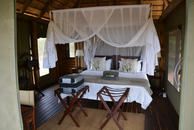nThambo Tree Camp tree house chalet bed