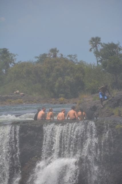 the Devil's Pool at Victoria Falls