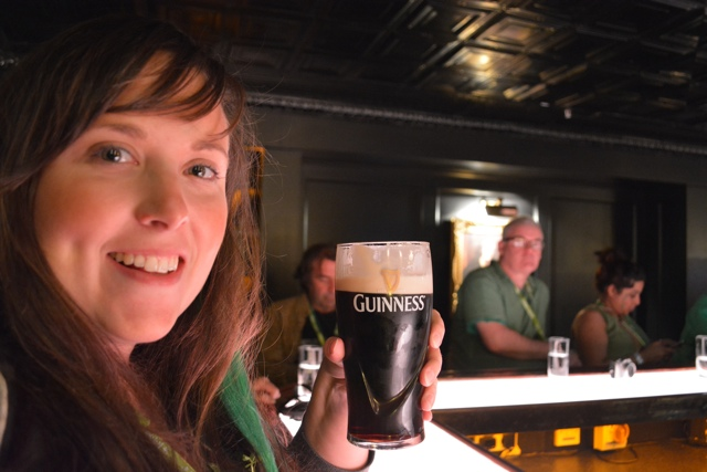 Cailin at the Guinness Storehouse in Dublin, Ireland - how to pour the perfect pint of guinness