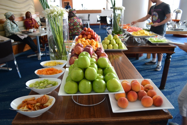 the radisson blu hotel in Cape Town, South Africa breakfast buffet