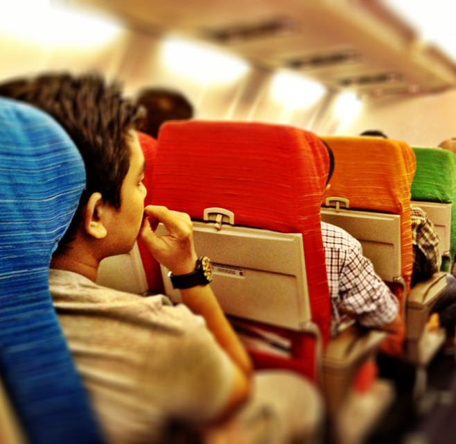 Malaysian Airlines rainbow colored seats - Malaysia As Seen Through Instagram Photos