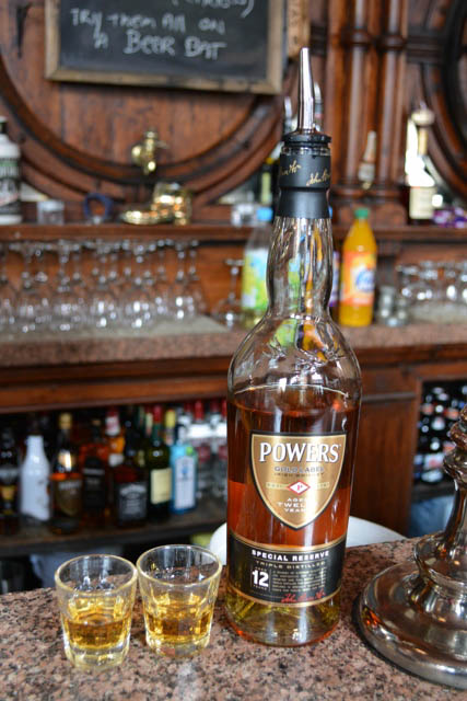 Swan Pub Powers gold label Whiskey - A Food Walking Tour in Dublin