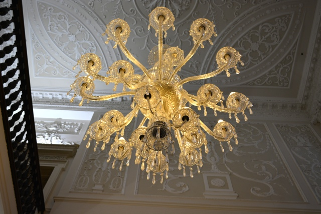 old chandelier at powerscourt town centre - A Food Walking Tour in Dublin