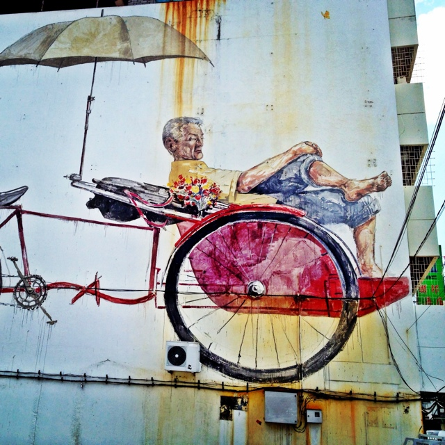 rickshaw street art by Ernest Zacharevic penang malaysia - Malaysia As Seen Through Instagram Photos