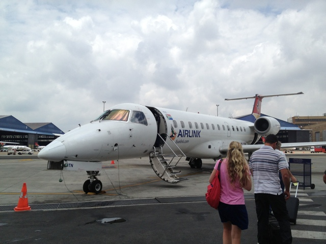 south african airways airlink plane - staying aboard the zambezi queen