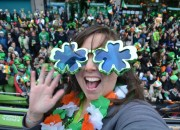 Cailin in the St Patrick's Day Parade - Tips for Celebrating St. Patrick's Day in Dublin, Ireland