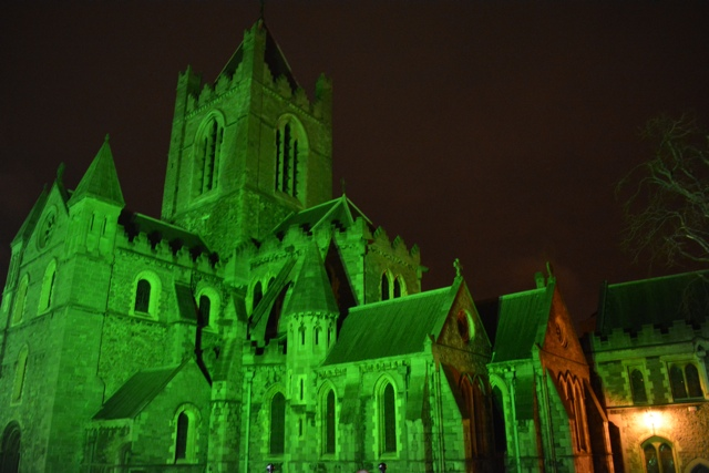 How is st Patricks day celebrated in Dublin a green Christ Church cathedral in dublin - Tips for Celebrating St. Patrick's Day in Dublin, Ireland
