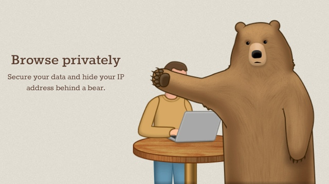 browse privately with TunnelBear VPN