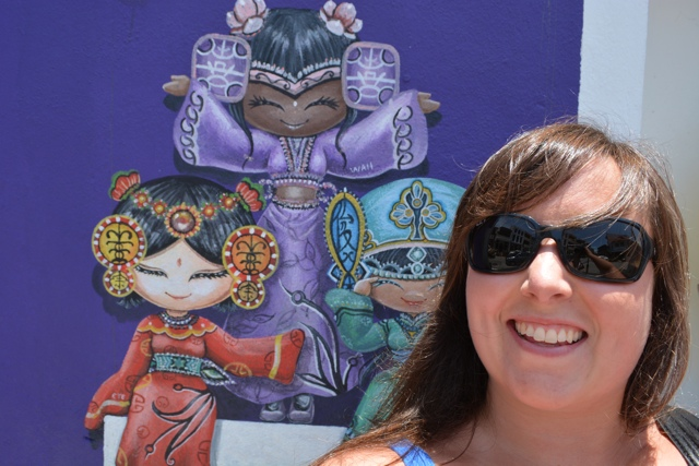 cultural girls and cailin - The Street Art of George Town, Penang, Malaysia