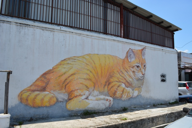 large orange cat - skippy comes to penang - The Street Art of George Town, Penang, Malaysia