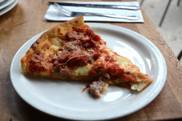 lou malnati's deep dish pizza -Gold Coast & Old Town Chicago Food Planet Tour Review