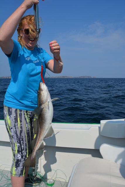 Candice Walsh cod fishing jigging - Interesting Food in Newfoundland