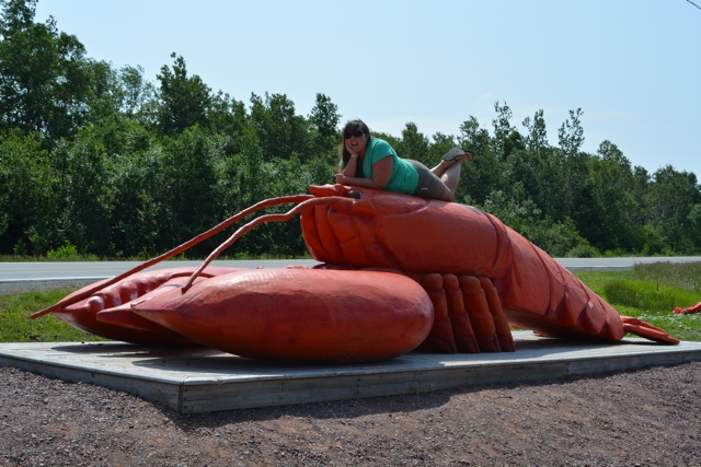 cailin on a lobster - The Best Lobster Rolls in Halifax