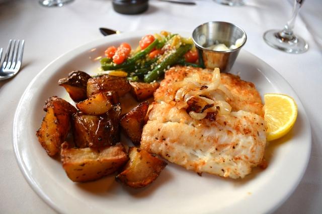 cod fish filet at the Twine Loft in Trinity, Newfoundland - Interesting Food in Newfoundland