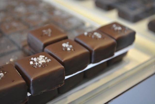 handmade dark chocolates with sea salt fleur de sel from Bali - My Big Day Downtown in Halifax