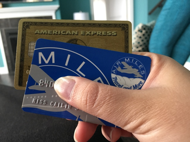 Amex and Air Miles Cards