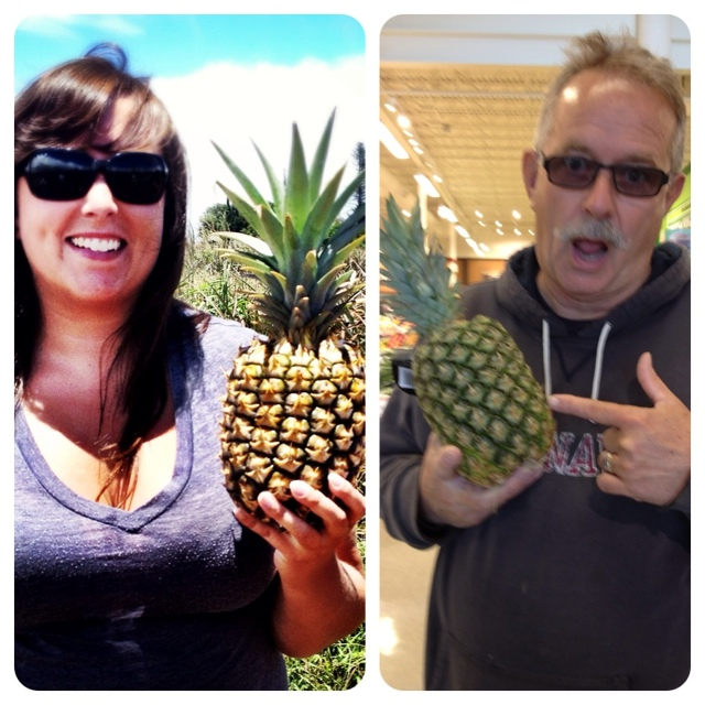 Cailin and Dad Maui Pineapple