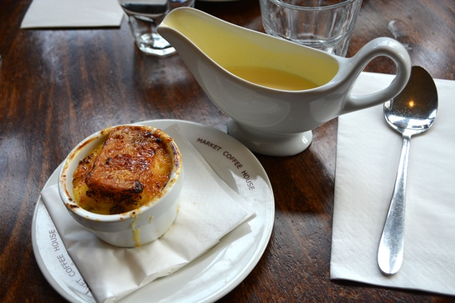 bread and butter pudding at the english restaurant - earting london food tour review