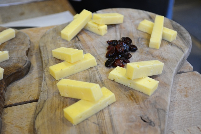 ogleshield cheese at Androuet cheese in Spitafields - eating london food tour review