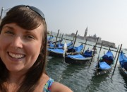 Cailin gondolas in Venice - tips for saving money traveling in europe