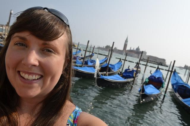 Cailin gondolas in Venice - tips for saving money when traveling through europe