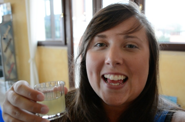 cailin drinking limoncello - Travel Yourself 2014 Year in Review