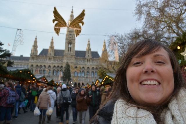 Cailin at the Vienna Christmas Market - Best Tips for Visiting European Christmas Markets