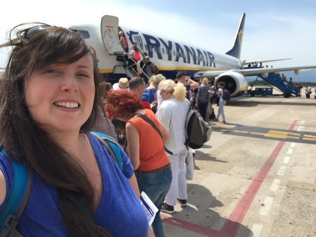 cailin flying ryanair - tips for saving money when traveling through europe