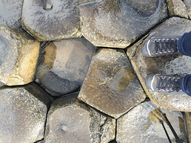 slippery rocks at the Giant's Causeway - Tips for Exploring the Giant's Causeway in Northern Ireland