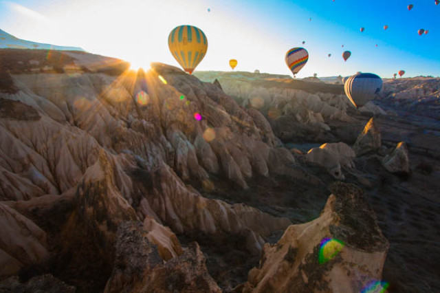 Hot Air Ballooning over Cappadocia by Elizabeth Carlson of YoungAdventuress.com