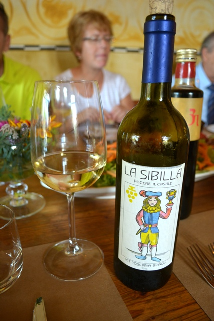La Sibilla Blanco white wine from Podere Il Casale - A Day Trip to Tuscany with Walks of Italy